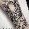 Художественная татуировка «Сноуборд». Мастер — Анна Корь. Расположение — предплечье. Время работы — 1,5 часа. По своему эскизу