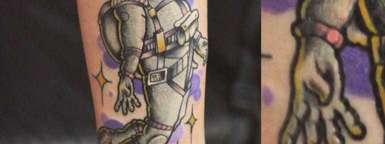 Художественная татуировка «Космонавт» от Берёзы
