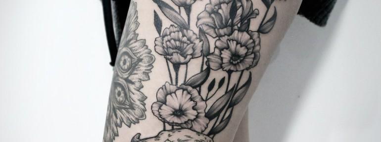 Художественная татуировка «Череп». Мастер — Инесса Кефир
