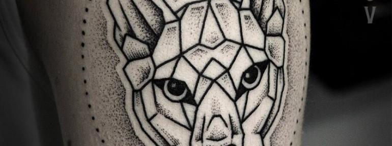 Художественная татуировка «Пума» от Юрия Полякова.