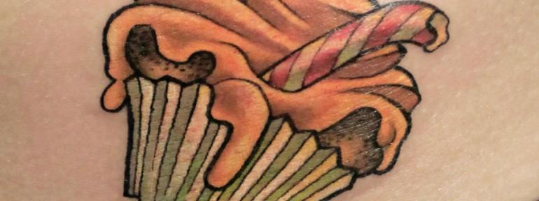 Художественная татуировка «Кексик». Мастер — Анна Корь.