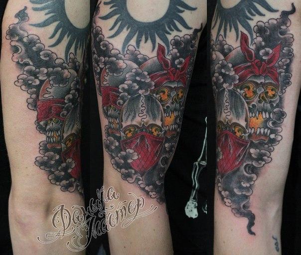 Художественная татуировка «Черепа» от Данилы-Мастера.