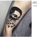Художественная татуировка «Голова». Мастер — Денис Марахин. Расположение — плечо. Время работы — 2 часа. По своему эскизу