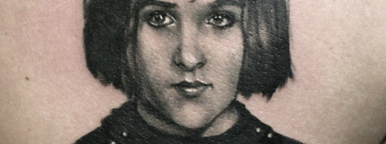 Художественная татуировка «Портрет матери». Мастер — Анна Корь