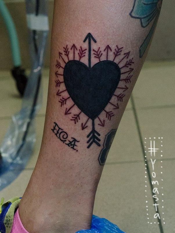 Художественная татуировка «Сердце». Мастер Данил Костарев.