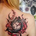 Художественная татуировка. Мастер — Анна Корь. Расположение — спина. Время работы —  3,5 часа. По своему эскизу