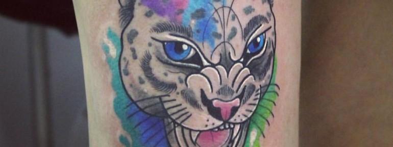 Художественная татуировка «Гепард». Мастер Настя Стриж.