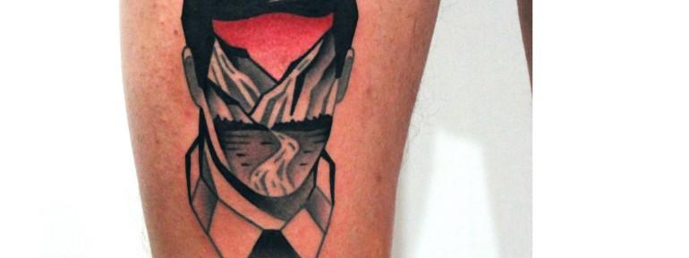 Художественная татуировка «Портрет и пейзаж». Мастер — Денис Марахин