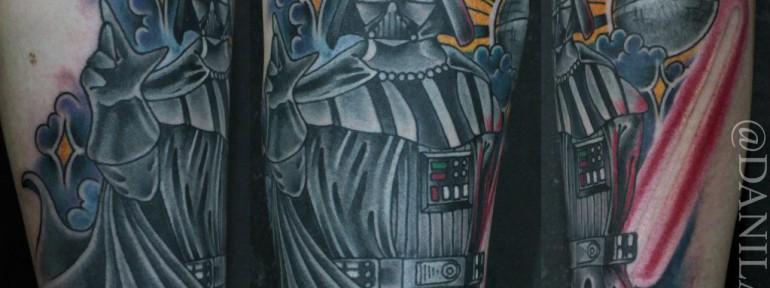 Художественная татуировка «Дарт Вейдер» от Данилы-Мастера