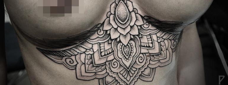 Художественная татуировка «Узоры» от Юрия Полякова