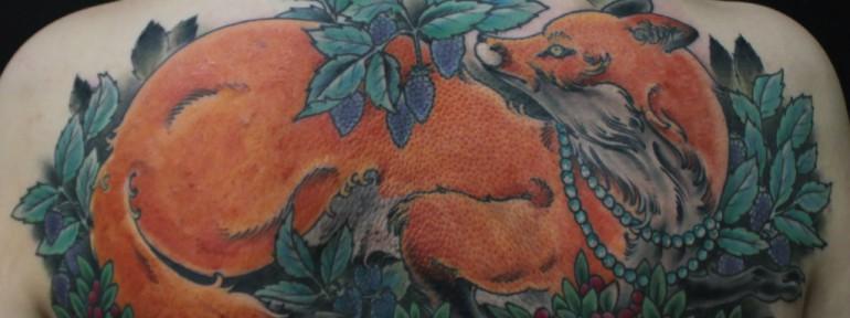Художественная татуировка «Лиса» от Данилы-Мастера