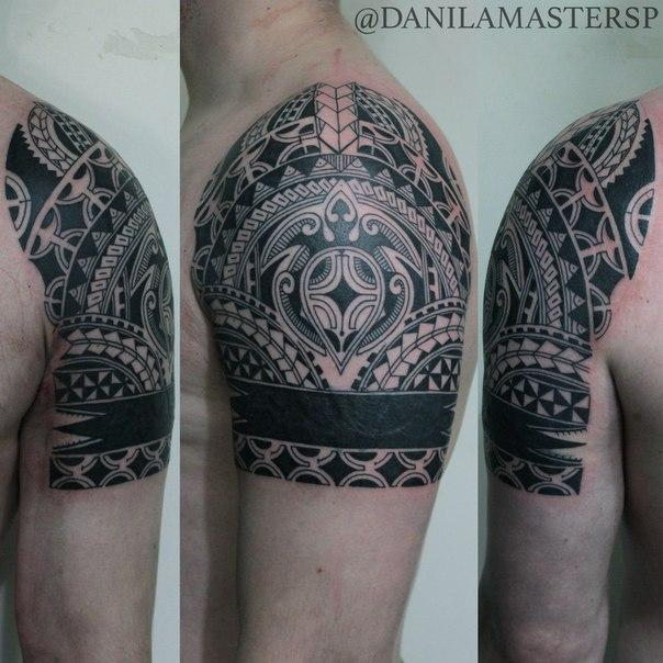 Художественная татуировка «Полинезия» от Данилы-Мастера
