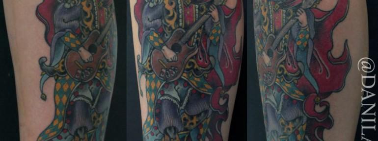 Художественная татуировка «Шут» от Данилы-Мастера