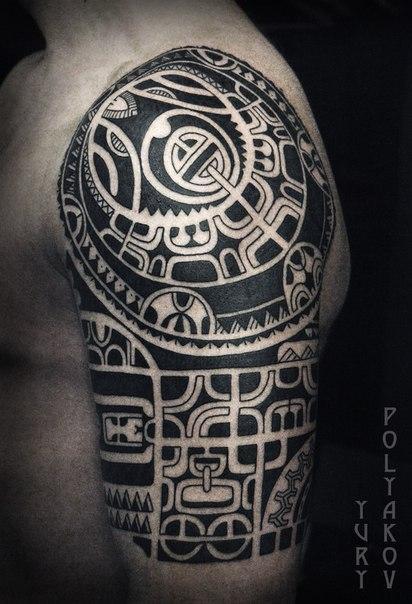 Художественная татуировка «Полинезия» от Юрия Полякова