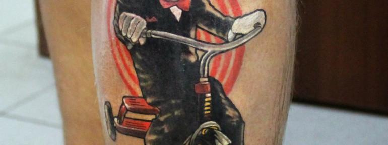 Художественная татуировка «Пила». Мастер Ян Енот.