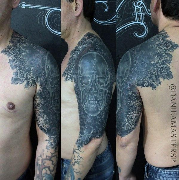 Художественная татуировка «Узоры» от Данилы-Мастера