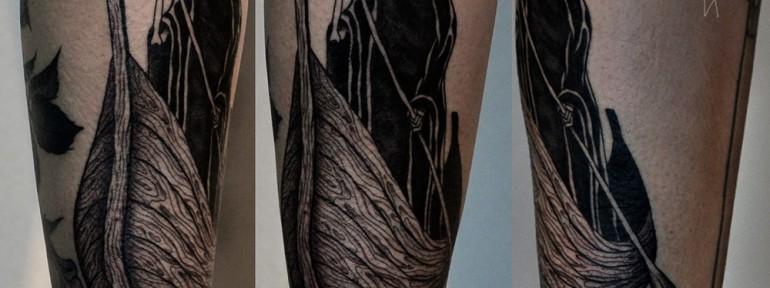 Художественная татуировка «Смерть». Мастер: Даниил Костарев.