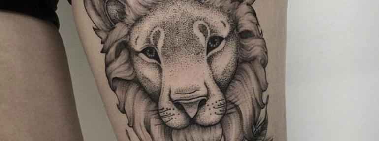 Художественная татуировка «Лев» от Лилии