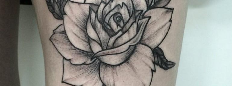 Художественная татуировка «Роза» от Лилии Золотухиной