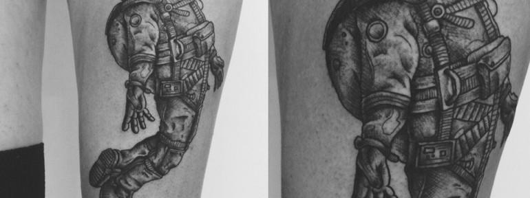 Художественная татуировка «Космонавт» от Ильи Берёзкина