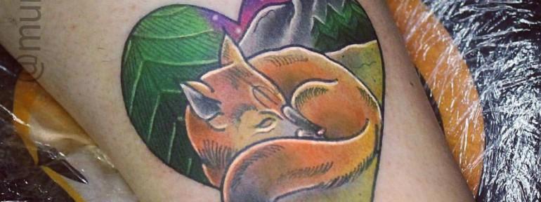 Художественная татуировка «Лиса». Мастер Настя Стриж.