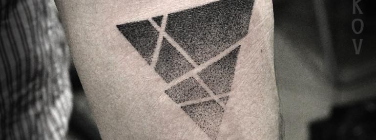 Художественная татуировка «Треугольник» от Юрия Полякова