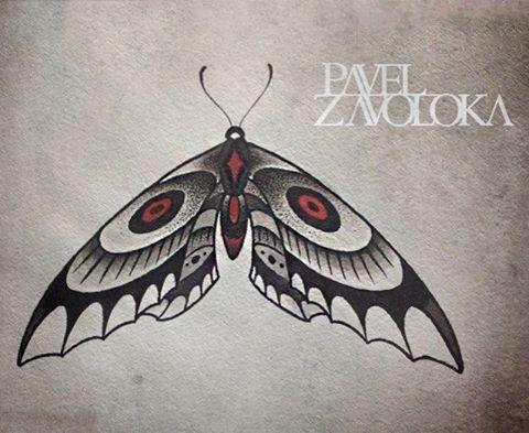 Свободный эскиз «Бабочка». Мастер Павел Заволока.