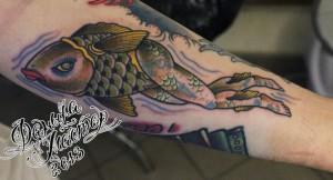 Художественная татуировка «Русалка».Данила-мастер. Время работы: час. Место расположения: Предплечье