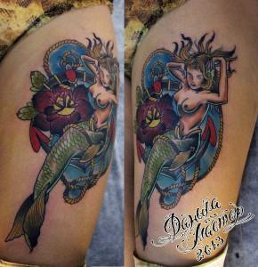 Татуировка русалка