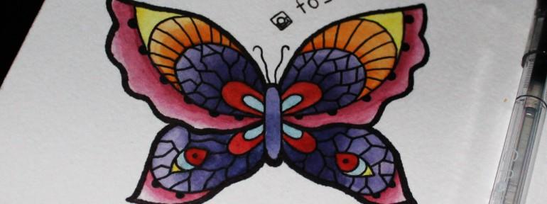 Свободный эскиз «Бабочка». Мастер Фоля Фо.