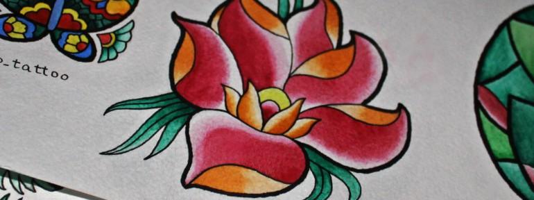 Свободный эскиз «Цветок». Мастер Фоля Фо.