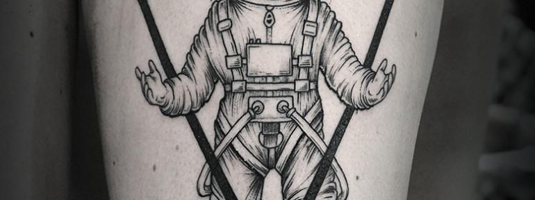 Художественная татуировка «Космонавт» от Юрия Полякова