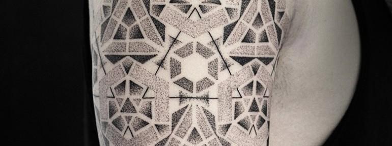 Художественная татуировка «Геометричные узоры» от Юрия Полякова