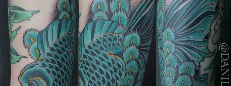 Художественная татуировка «Вуалехвост» от Данилы-Мастера