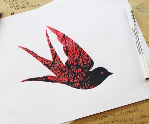 Свободный эскиз «Птица». Мастер- Александр Новик