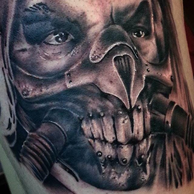 Художественная татуировка «Несмертный Джо» от Евгения Ершова