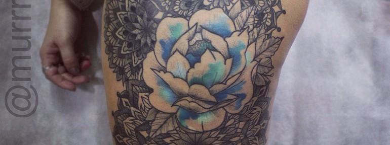 Художественная татуировка «Орнамент». Мастер Настя Стриж
