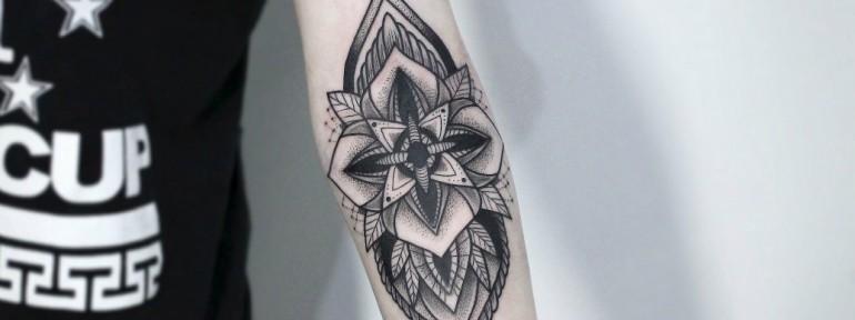 Художественная татуировка «Узор». Мастер — Инесса Кефир