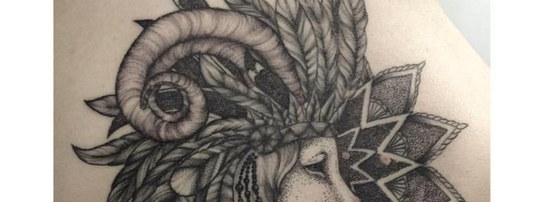 Художественная татуировка «Лев». Мастер- Лилия