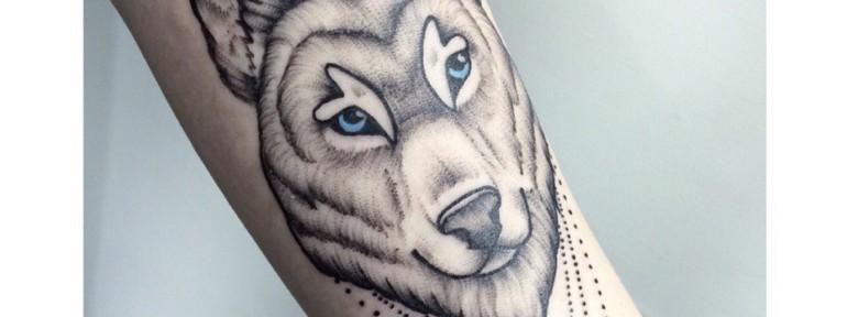 Художественная татуировка «Волк». Мастер- Лилия