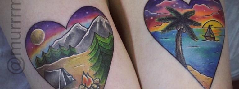 Художественная татуировка «Отдых». Мастер Настя Стриж