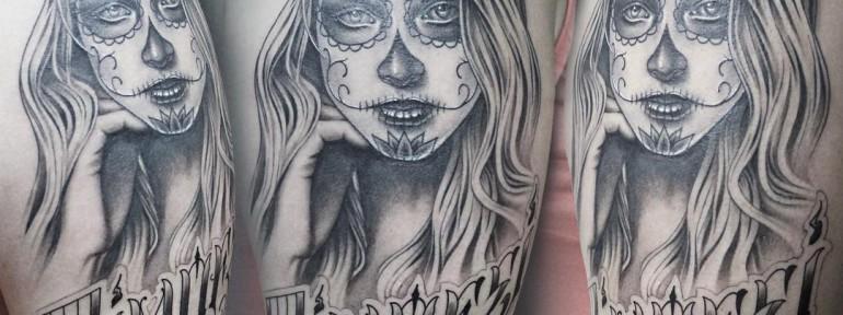 Художественная татуировка «Чикано». Процесс. Мастер Павел Заволока.
