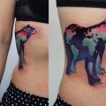 Художественная татуировка «Медведь». Мастер Саша Unisex. По собственному эскизу. Расположение: бок. Время работы: 3 часа.