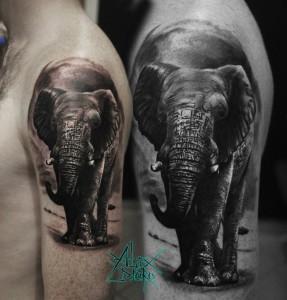 Значение татуировки слон — кто выбирает тату со слоном или слоненком?