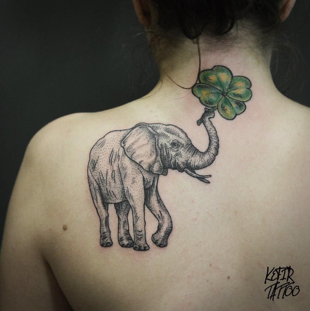 тату слон картинки