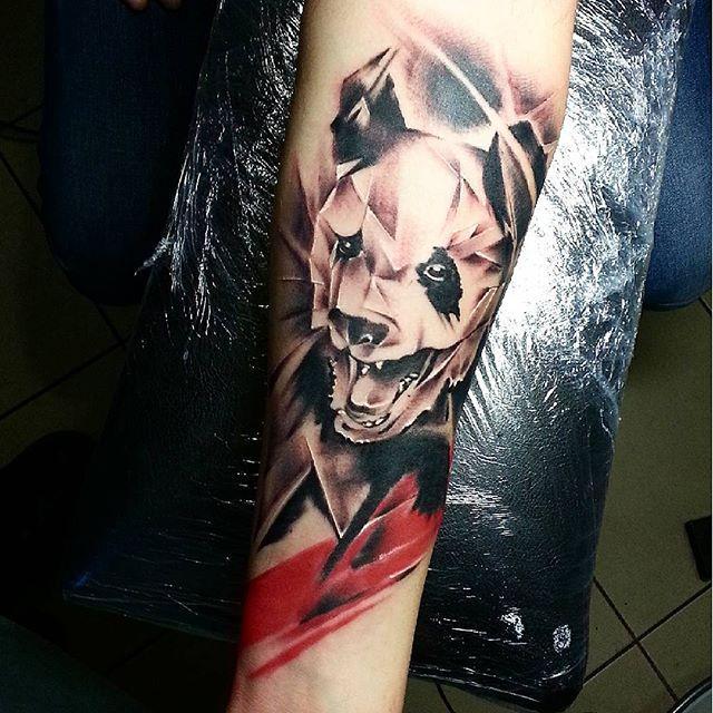 Художественная татуировка «Панда» от Евгения Ершова