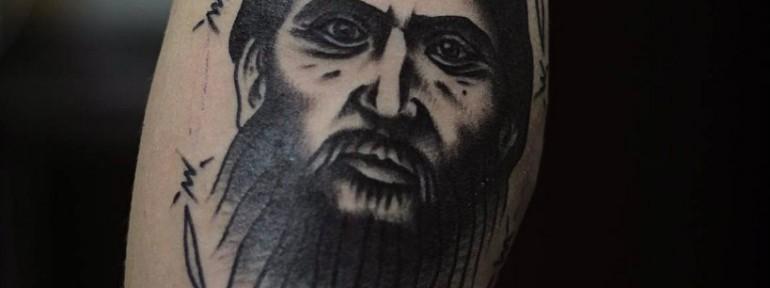 Художественная татуировка «Распутин». Мастер- Александр Бахаревич
