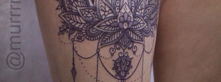 Художественная татуировка «Орнамент». Мастер Настя Стриж.