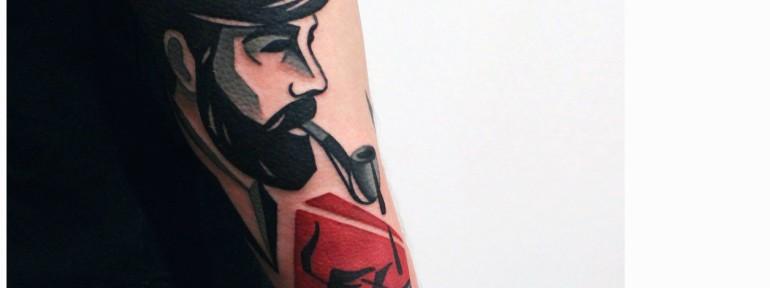 Художественная татуировка «Моряк». Мастер — Денис Марахин