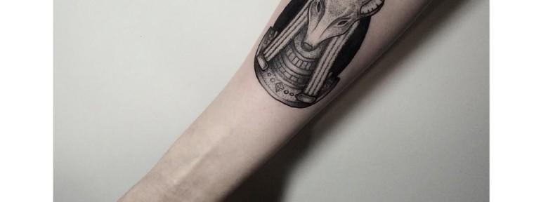 Художественная татуировка «Анубис». Мастер- Лилия